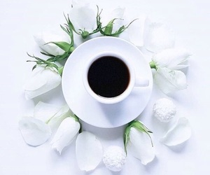classy, coffee, and flowers image