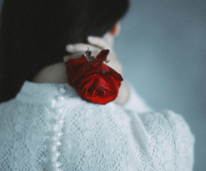 clothes, dress, and flower image