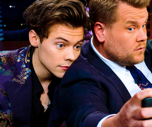 friendship, james corden, and Harry Styles image