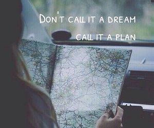 Dream, plan, and quote image
