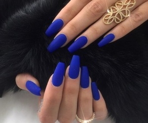 nails and royal blue image