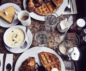 chai tea, fried chicken, and corn bread image