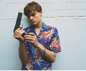 leonardo dicaprio, gun, and boy image