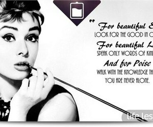 audrey hepburn, quote, and black and white image