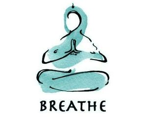breathe, yoga, and meditation image