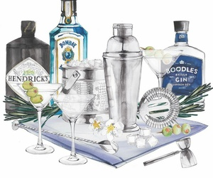 alcohol, dibujo, and drinks image