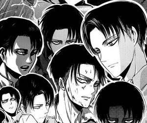 attack on titan, shingeki no kyojin, and levi image