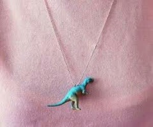 dinosaur, necklace, and pink image