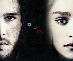 game of thrones, jon snow, and emilia clarke image