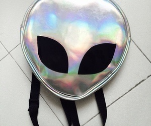 alien, grunge, and bag image