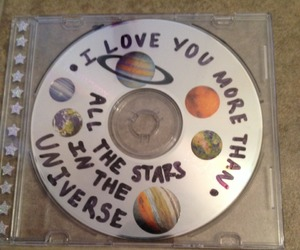 cd, stars, and grunge image