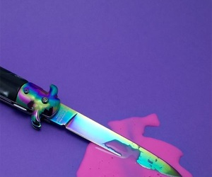 pink, knife, and purple image