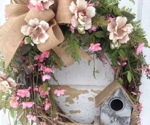 birdhouse, etsy, and spring wreath image