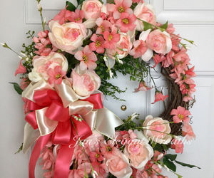 etsy, spring wreath, and front door wreath image