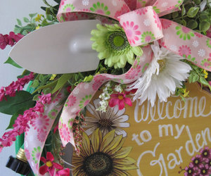 etsy, silk flowers, and spring wreath image