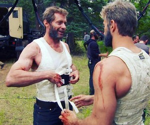 hugh jackman, logan, and wolverine image