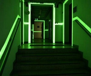 green, neon, and light image