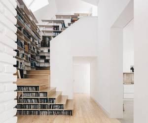 home, bookshelf, and interior image