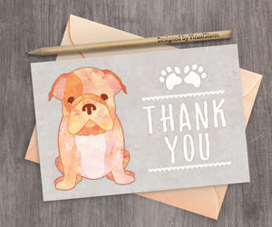 etsy, printable thank you, and pet thank you card image
