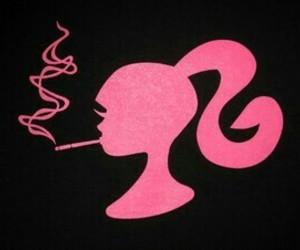 barbie, pink, and smoke image