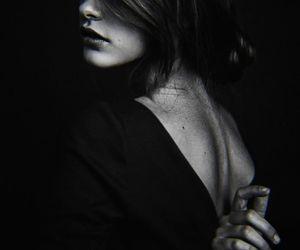 black, dark, and expressive image