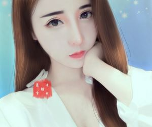 art, beautiful girl, and digital art image
