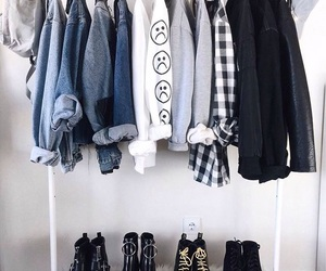 clothes, jeans, and shoes image