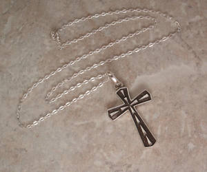 etsy, cross necklace, and vintage cross image