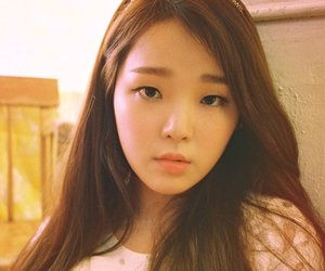 oh my girl, seunghee, and windy day image