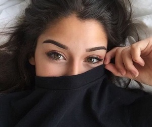 eyes, girl, and sweater image