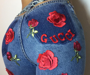 fashion, gucci, and roses image