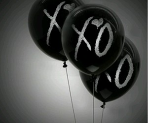 xo, the weeknd, and balloons image