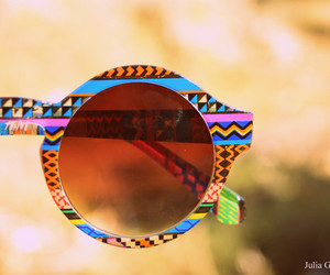colours, hippie, and sun glasses image