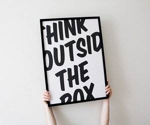 quote, box, and think image