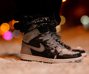 nike, shoes, and snow image