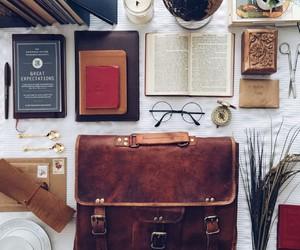 bag, books, and glasses image