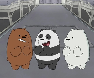 cartoon, ice bear, and we bare bears image