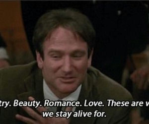 robin williams, quotes, and romance image