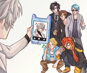 mystic messenger, seven, and zen image