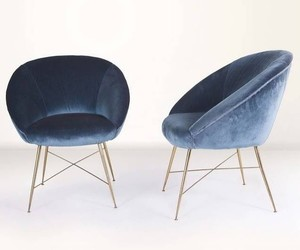blue, chairs, and interior design image
