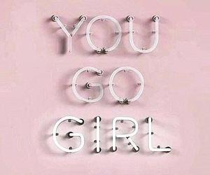 girl, pink, and girl power image