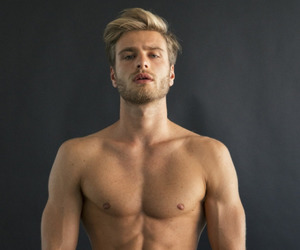 abs, beard, and blonde image