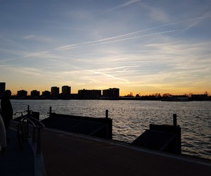 air, netherlands, and sunset image