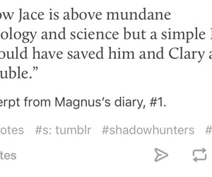 text, magnus bane, and trueeee image