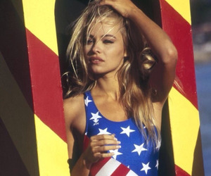 Pamela Anderson, 90s, and beach image