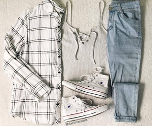 converse, look, and outfit image