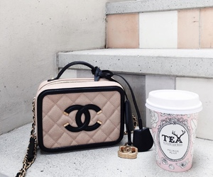 bags, chanel, and drinks image