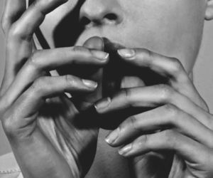 hands, beauty, and black and white image