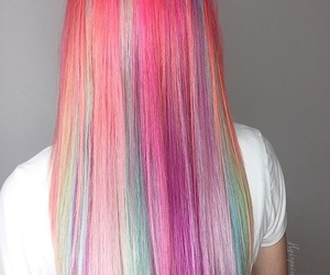 colorful, hair, and colors image