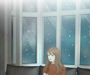 manhwa, adora, and winter woods image